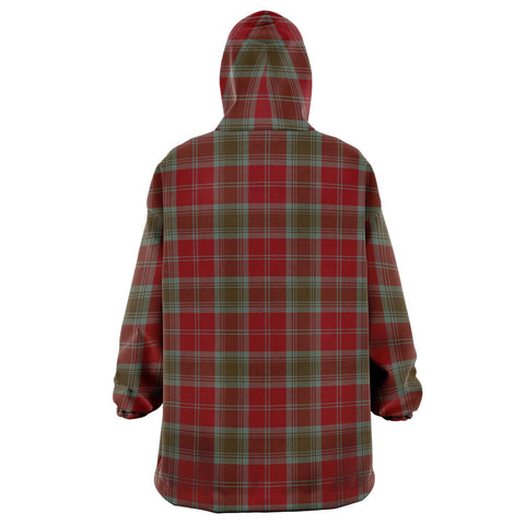 Lindsay Weathered Snug Hoodie - Unisex Tartan Plaid Back