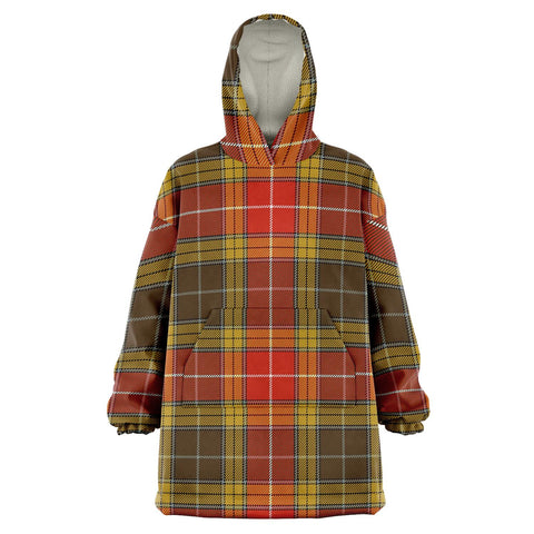 Buchanan Old Set Weathered Snug Hoodie - Unisex Tartan Plaid Front