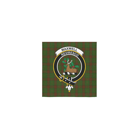 Maxwell Hunting Tartan Towel Clan Badge | 1sttheworld.com