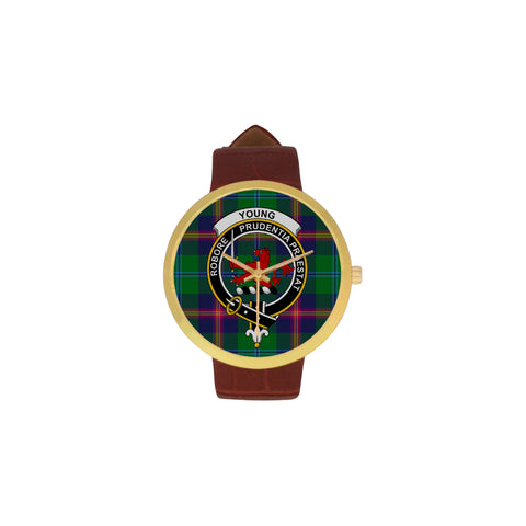 Young Modern Clan Badge Tartan Watch
