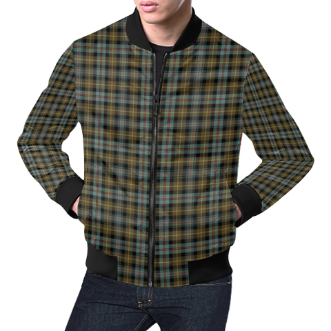 Farquharson Weathered Tartan Bomber Jacket | Scottish Jacket | Scotland Clothing