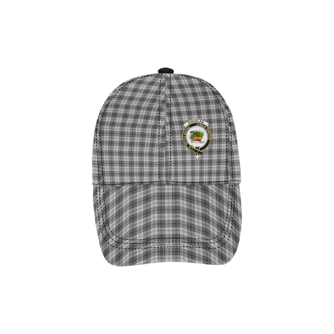 Image of Douglas Grey Modern Clan Badge Tartan Dad Cap - BN03