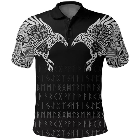 Vikings Polo Shirt The Raven Of Odin Tattoo A7
