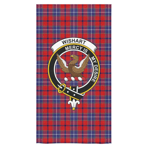 Wishart Dress Tartan Towel Clan Badge NN5