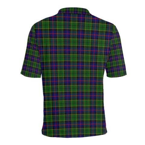 Forsyth Modern Tartan Clan Badge Polo Shirt HJ4