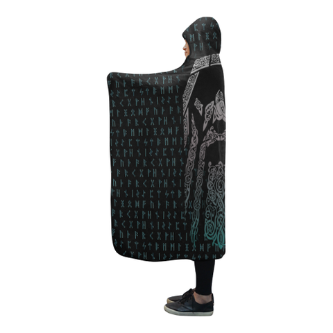 Viking Hooded Blanket - Odin (Wotan) A9