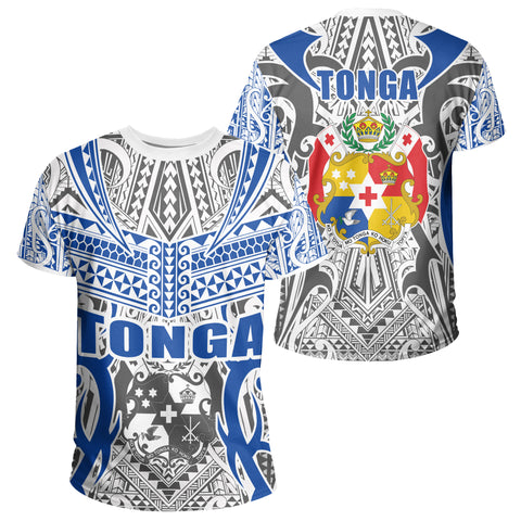 Image of Tonga T-shirt - Kingdom of Tonga Tee White Blue J0