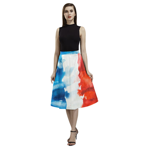 FRANCE FLAG AOEDE CREPE SKIRT A1