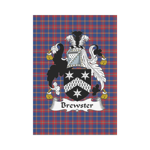 Brewster Tartan Flag Clan Badge K9 |Home Decor| 1sttheworld