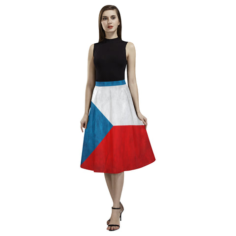 CZECH REPUBLIC FLAG AOEDE CREPE SKIRT A1