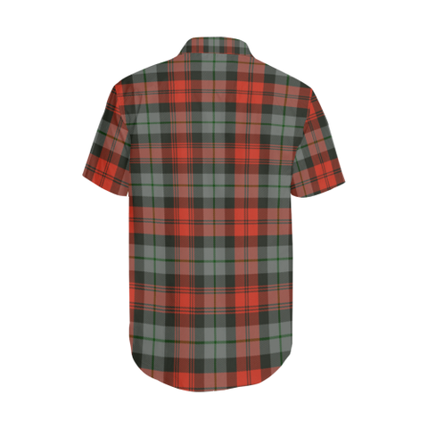 Tartan Shirt - MacLachlan Weathered Tartan Lapel Collar Shirt | 500 Scottish Tartans and 300 Clans