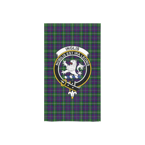 Inglis Modern Tartan Towel Clan Badge NN5