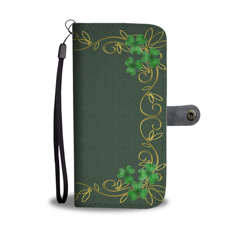 Image of Vintage Shamrock Wallet Phone Case H1
