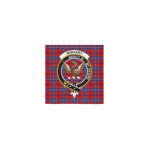 Wishart Dress Tartan Towel Clan Badge | 1sttheworld.com