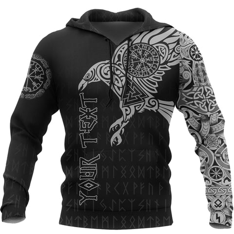 Custom Vikings - The Raven Of Odin Tattoo Special Hoodie A7