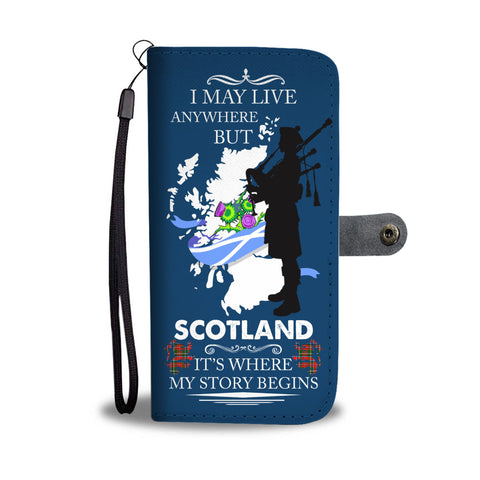 Image of Scotland It'S Where My Story Begins Wallet Phone Cases (W) Ha8