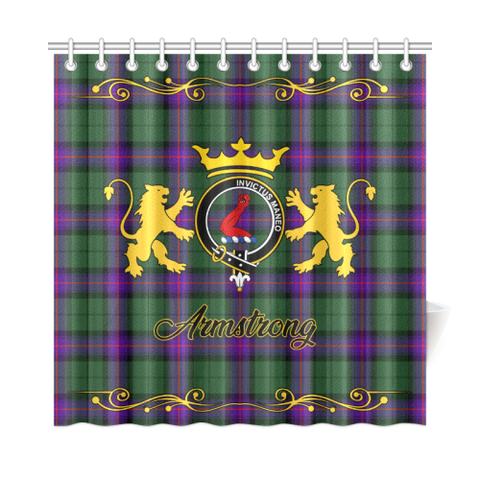 Tartan Shower Curtain - Armstrong Clan | Scottish Home Set | Over 300 Clans