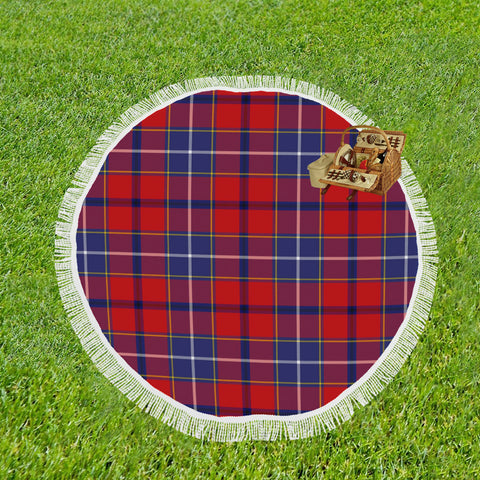 WISHART DRESS TARTAN BEACH BLANKET th8