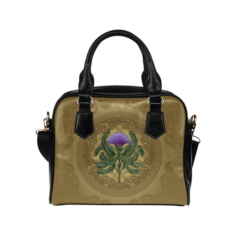 Thistle Scottish Luxury Shoulder Handbag