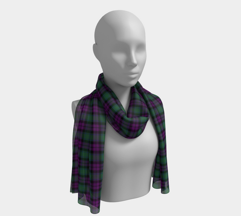 Tartan Long Scarf - Macarthur Milton - Bn04 |Women's Clothing| 1sttheworld