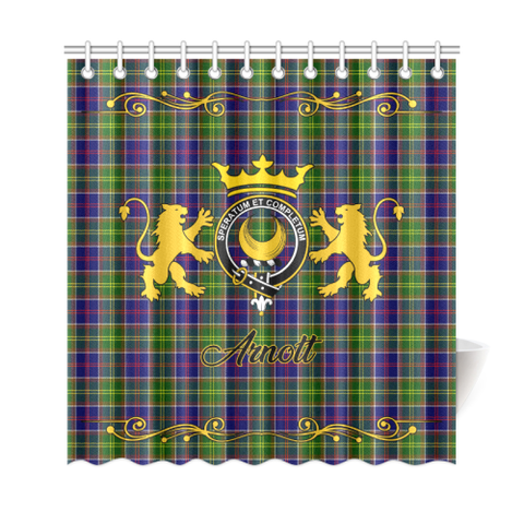 Image of Tartan Shower Curtain - Arnott Clan | Scottish Home Set | Over 300 Clans