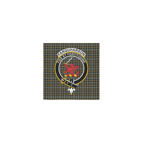 Farquharson Weathered Tartan Towel Clan Badge | 1sttheworld.com
