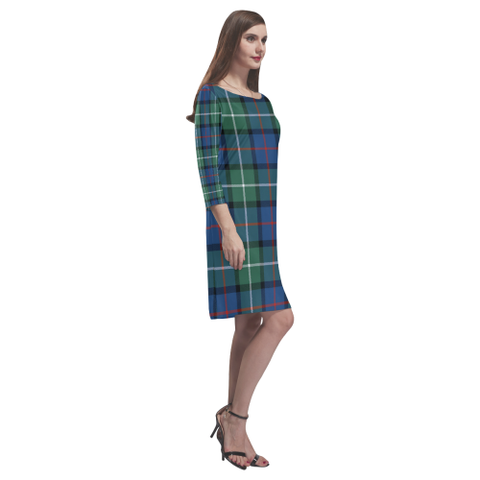 Davidson Of Tulloch  Tartan Dress - Rhea Loose Round Neck Dress - BN
