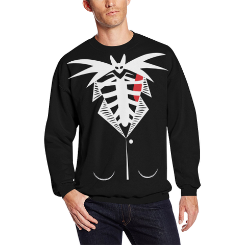Jack Skellington Tuxedo  All Over Print Crewneck Sweatshirt H5