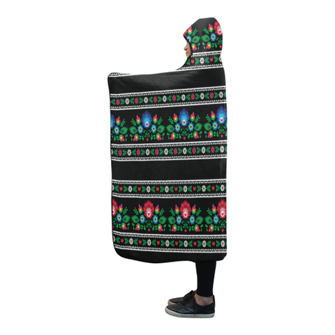 Image of Poland Polish Folk Art Hooded Blanket 02 H7 | Love The World