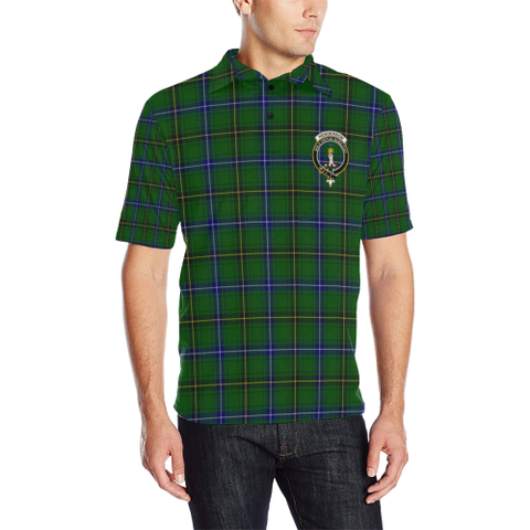 Henderson Modern Tartan Clan Badge Polo Shirt HJ4