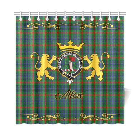 Image of Tartan Shower Curtain - Aiton Clan | Scottish Home Set | Over 300 Clans