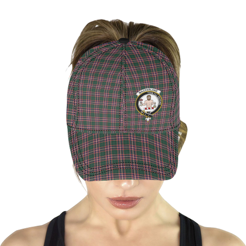 MacFarlane Hunting Modern Clan Badge Tartan Dad Cap - BN04