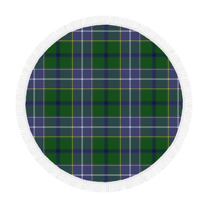 WISHART HUNTING TARTAN BEACH BLANKET th8