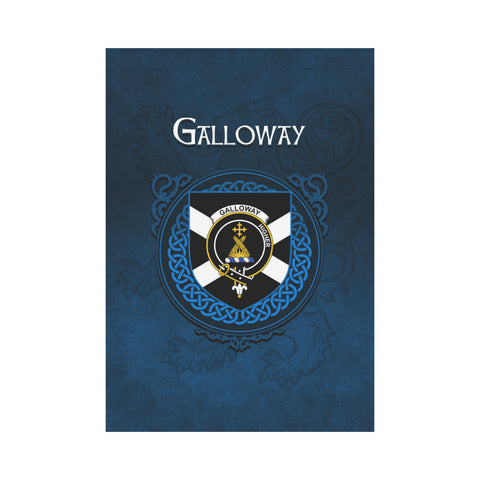 Image of Galloway Crest Scotland Garden Flag (Blue) | Over 300 Clans