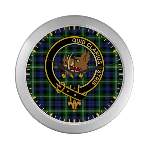 Image of BAILLIE CLAN TARTAN WALL CLOCK A9