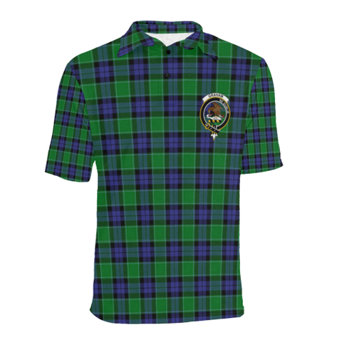 Graham Of Menteith Modern Tartan Clan Badge Polo Shirt HJ4