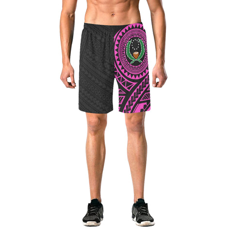 Pohnpei Polynesian Pink Beach Shorts | Polynesian Clothings