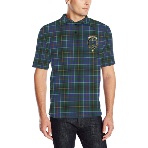 Macinnes Modern Tartan Clan Badge Polo Shirt HJ4