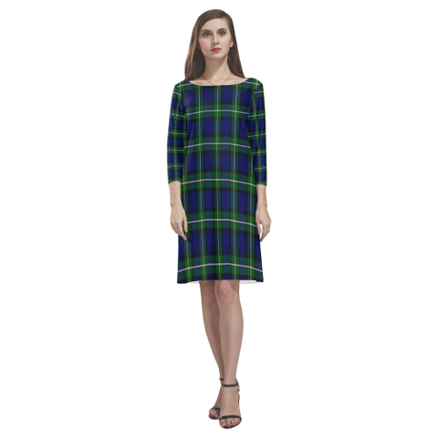Image of Tartan dresses - Forbes Modern Tartan Dress - Round Neck Dress NN5