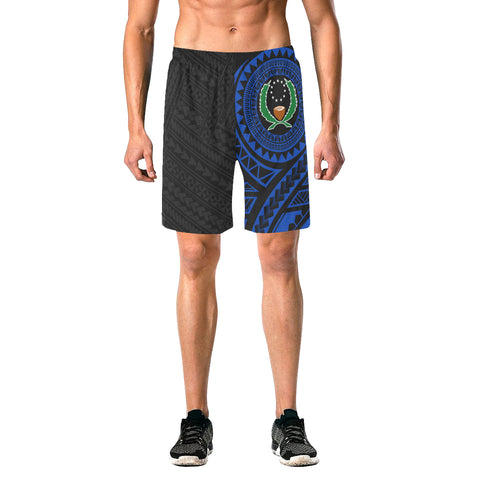 Image of Pohnpei Polynesian Blue Beach Shorts | Polynesian Clothings