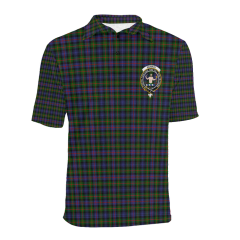 Murray Of Atholl Modern Tartan Clan Badge Polo Shirt HJ4