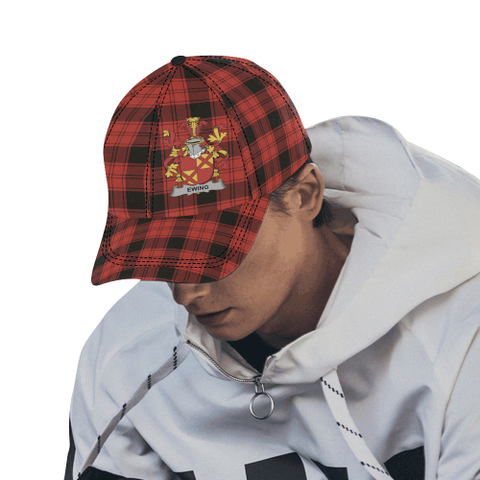 Ewing Clan Badge Tartan Dad Cap - BN