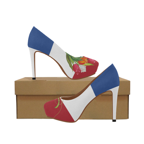 Netherlands High Heel Pumps - Tulip On Flag | Hot Sale
