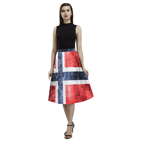 NORWAY FLAG AOEDE CREPE SKIRT A1