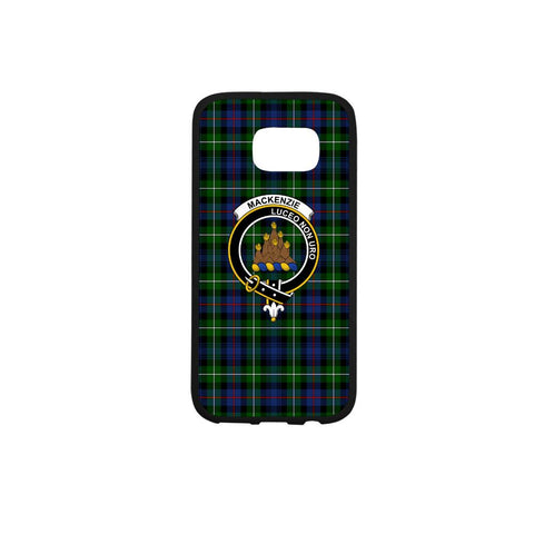 Image of Mackenzie Tartan Clan Badge Rubber Phone Case HJ4