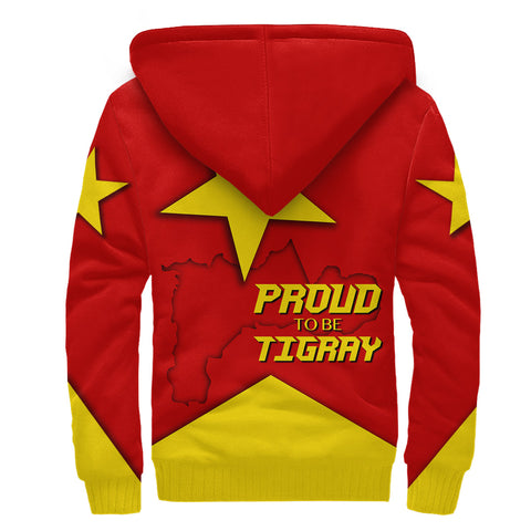 1stTheWorld Sherpa Hoodie - Proud To Be Tigray
