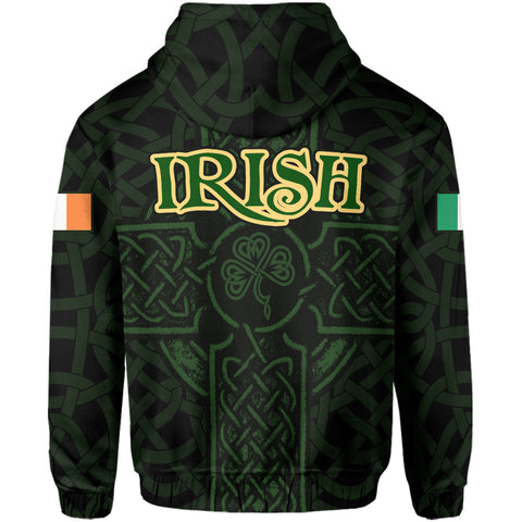 Ireland Zip Hoodie - Irish Celtic Cross