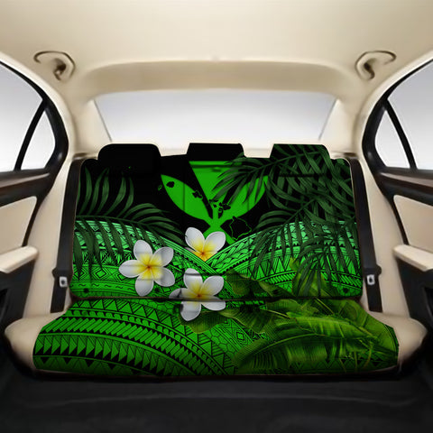 Kanaka Maoli (Hawaiian) Back Car Seat Covers - Polynesian Plumeria Banana Leaves Green A02