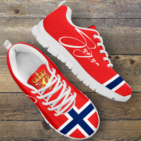 (Custom) Norway Sneakers Flag Personal Signature | Special Custom Design
