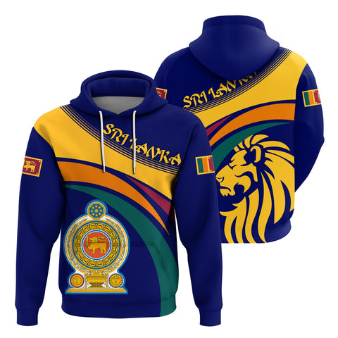 Image of 1sttheworld Sri Lanka Lion Coat Of Arms Hoodie